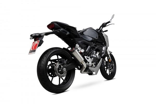 Scorpion Red Power Auspuff für Honda CB 125 R 2018-2019 Motorräder