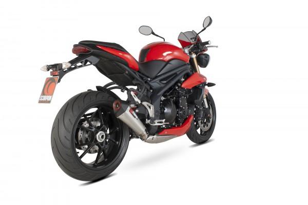 Scorpion Serket Taper Auspuff für Triumph Speed Triple 1050 2011-2015 Motorräder