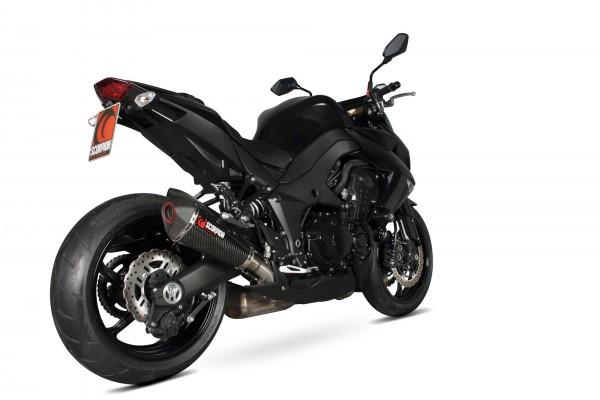 Scorpion Serket Taper Auspuff für Kawasaki Z 1000 2010-2013 Motorräder