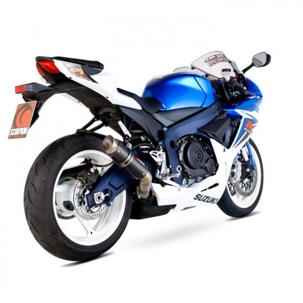 Scorpion RP-1 GP Auspuff für Suzuki GSXR 600 2011-2018 Motorräder