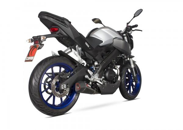 Scorpion Serket Taper Komplettanlage für Yamaha MT 125 2014-2019 Motorräder