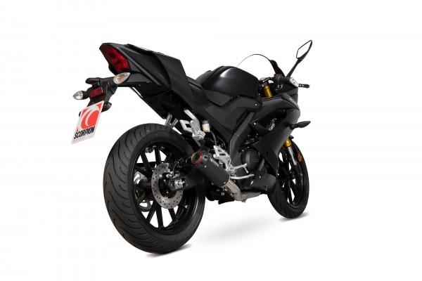 Scorpion Red Power Komplettanlage für Yamaha YZF R 125 / R 15 2019-2020 Motorräder