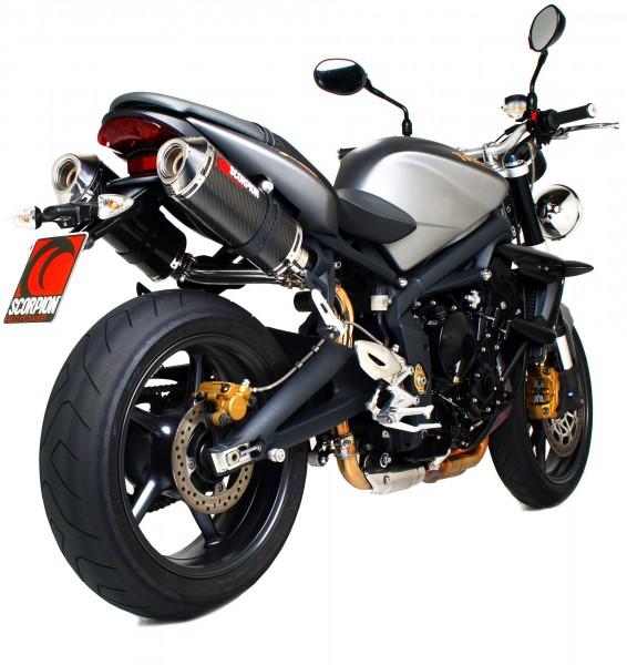 Scorpion Factory Auspuff für Triumph Street Triple 675 2007-2012 Motorräder