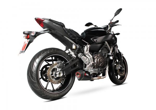Scorpion Serket Endtopf mit Krümmeranlage in für Yamaha MT-07 2014-2016 Motorräder