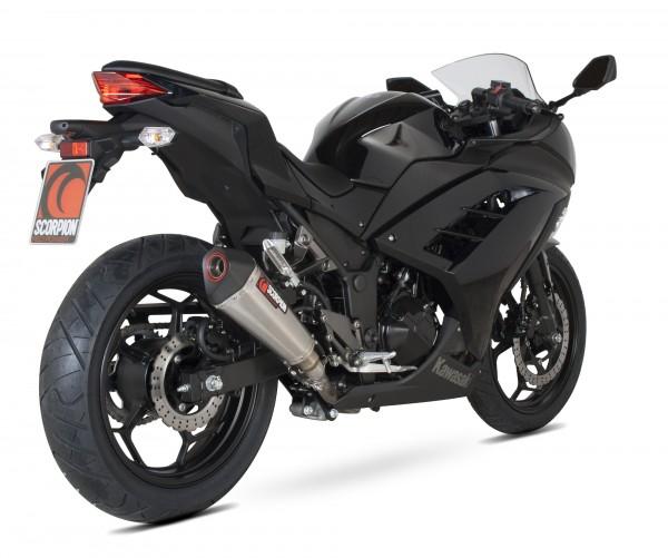Scorpion Serket Taper Auspuff für Kawasaki Z 300 2015-2016 Motorräder