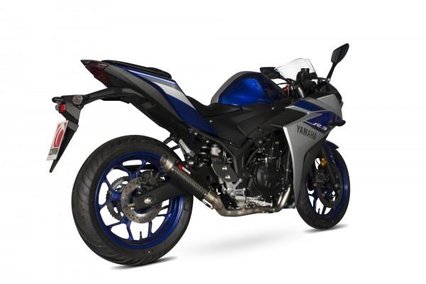 Scorpion RP-1 GP Endtopf mit Krümmeranlage für Yamaha YZF R3 2014-2016 Motorräder