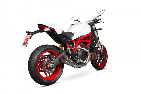 Scorpion Serket Taper Auspuff für Ducati Monster 797 2017- Motorräder