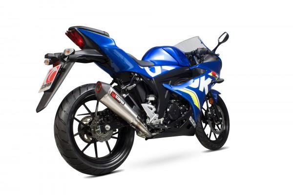 Scorpion Serket Taper Komplettanlage für Suzuki GSXR 125 Motorräder edelstahlummantelt