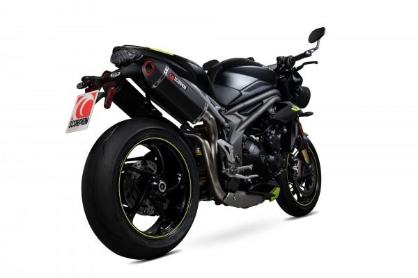 Scorpion Serket Parallel Auspuff mit EG-Betriebserlaubnis für Triumph Speed Triple 1050 R / S / RS 2018-2020 Motorrad