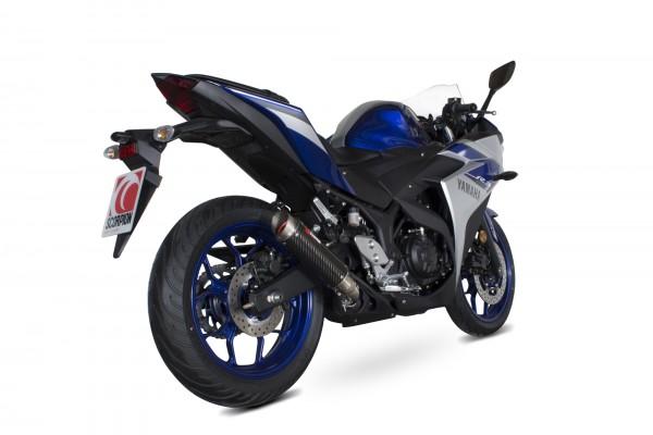 Scorpion RP-1 GP Auspuff für Yamaha YZF R3 2014-2020 Motorräder