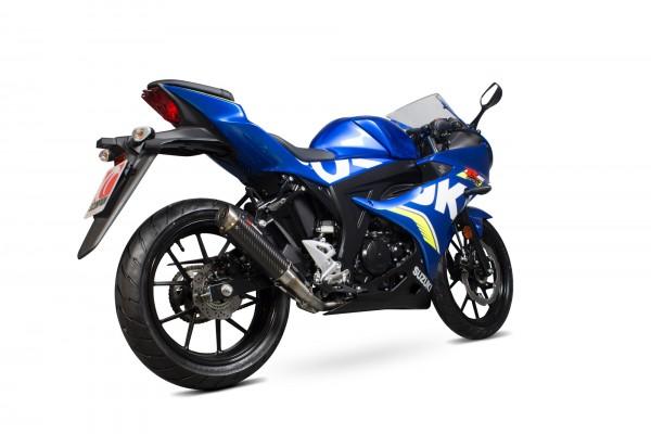 Scorpion RP-1 GP Komplettanlage für Suzuki GSXR 125 Motorräder carbonummantelt