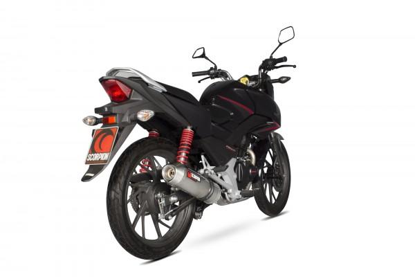 Scorpion Factory Endtopf mit Krümmeranlage in für Honda CB 125 F