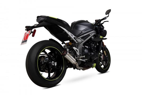 Scorpion Red Power Auspuff für Triumph Speed Triple 1050 RS 2018-2019 Motorräder
