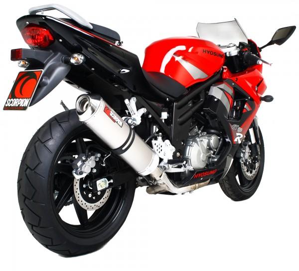 Scorpion Factory Auspuff für Hyosung GT 650 R / S 2006-2017 Motorräder
