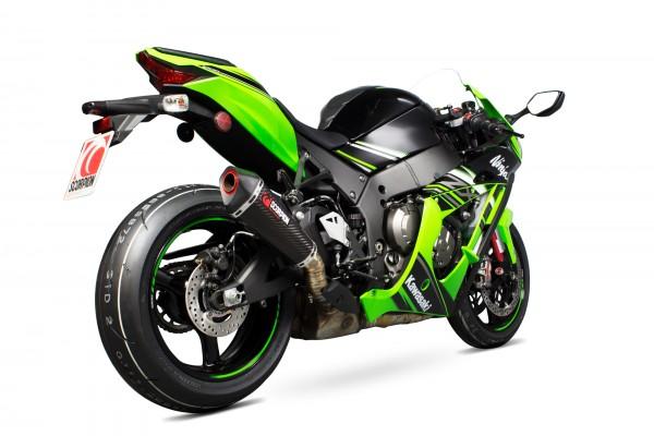 Scorpion Serket Taper Auspuff für Kawasaki Ninja ZX 10 R 2016-2017 Motorräder