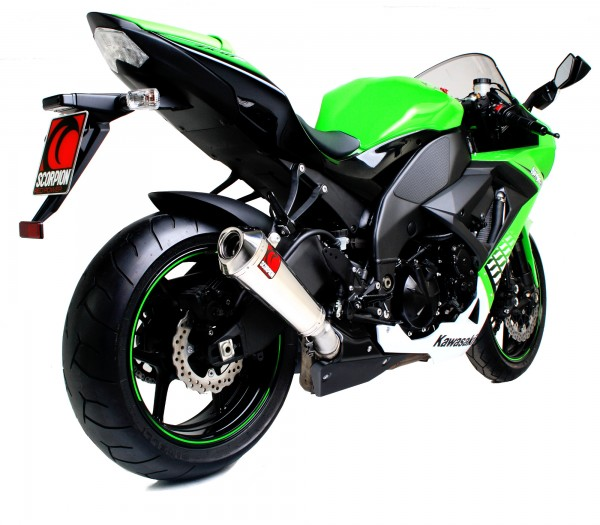 Scorpion Power Cone Auspuff für Kawasaki Ninja ZX 10 R 2008-2010 Motorräder