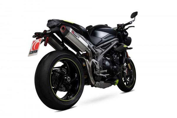 Scorpion Serket Parallel Auspuff für Triumph Speed Triple 1050 R 2018-2019 Motorräder