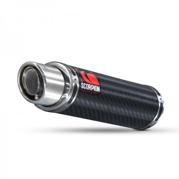 Scorpion Stealth Auspuff für Kawasaki Ninja ZX 636 2007-2008 Motorräder liegend