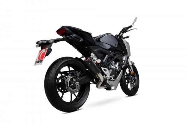 Scorpion Red Power Auspuffanlage für Honda CB 125 R 2018- schwarz beschichtet