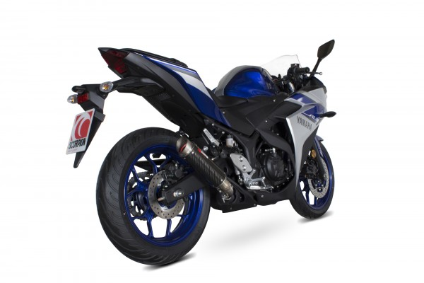 Scorpion RP-1 GP Auspuff für Yamaha YZF R25 2014-2016 Motorräder