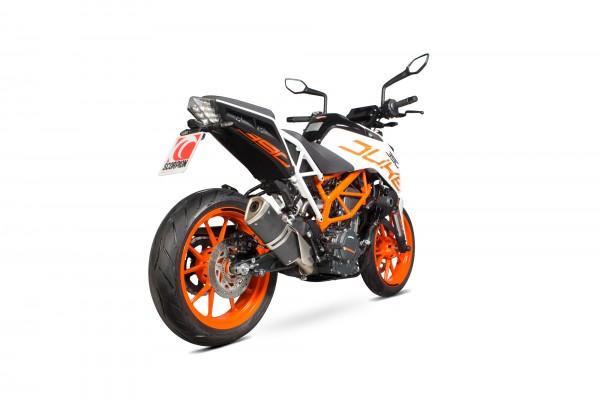 Scorpion Edelstahl Katersatzrohr für KMT Duke 390 2017-2020 Motorrad