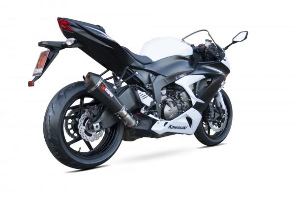 Scorpion Serket Taper Auspuff für Kawasaki Ninja ZX 6 R / ZX 636 2013-2016 Motorräder