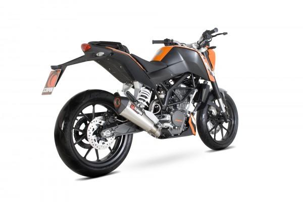 Scorpion Serket Taper Auspuff für KTM Duke 125 2011-2016 / Duke 200 2012-2016 Motorräder