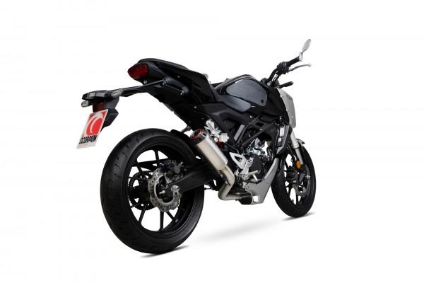 Scorpion Red Power Auspuff für Honda CB 125 R 2018-2019 seitlich