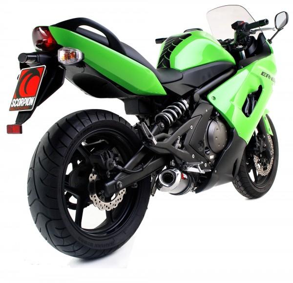 Scorpion Factory Auspuff für Kawasaki ER6 N 2006-2011 Motorräder