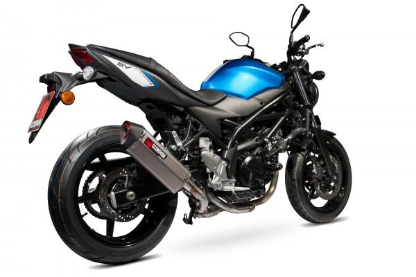 Scorpion Serket Parallel Auspuff für Suzuki SV 650 2016-2020 / SV 650 X 2018-2020 Motorräder